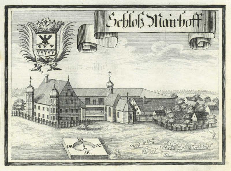 Schloss Maierhofen Kupferstich - Geschichte des Schlosses