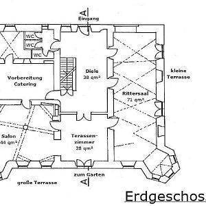 Grundriss Erdgeschoss Schloss Maierhofen