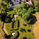 Luftbild Schloss Maierhofen und Park