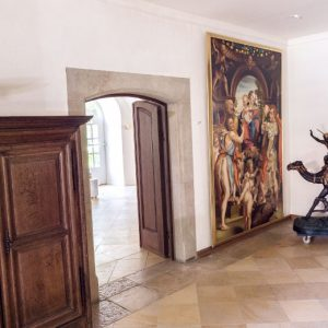 Durchgang zum Rittersaal Schloss Maierhofen